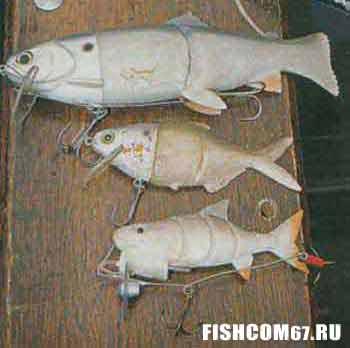 Искусственные рыбки для ловли на дорожку