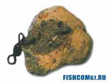 Камень с замаскированным вертлюжком