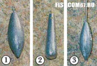 Грузила для морской рыбалки