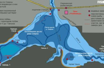 Карта Озернинского водохранилища