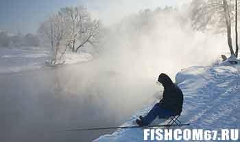 Рыбалка зимой на реке