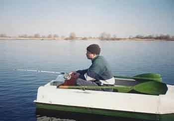 Ловля в отвес с лодки