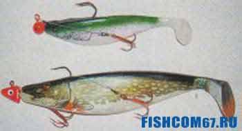 Силиконовые рыбки для ловли щуки