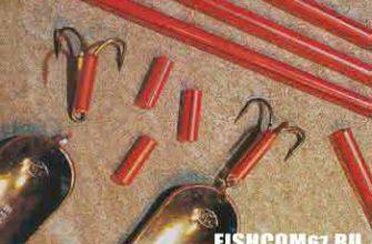 Хвост блесны сделанный из соломинки красного цвета