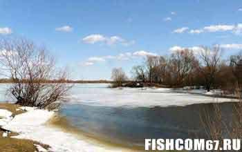 Рыбалка в марте на пруду