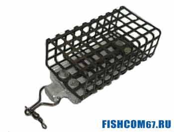 Сетчатая кормушка для рыбалки на фидер